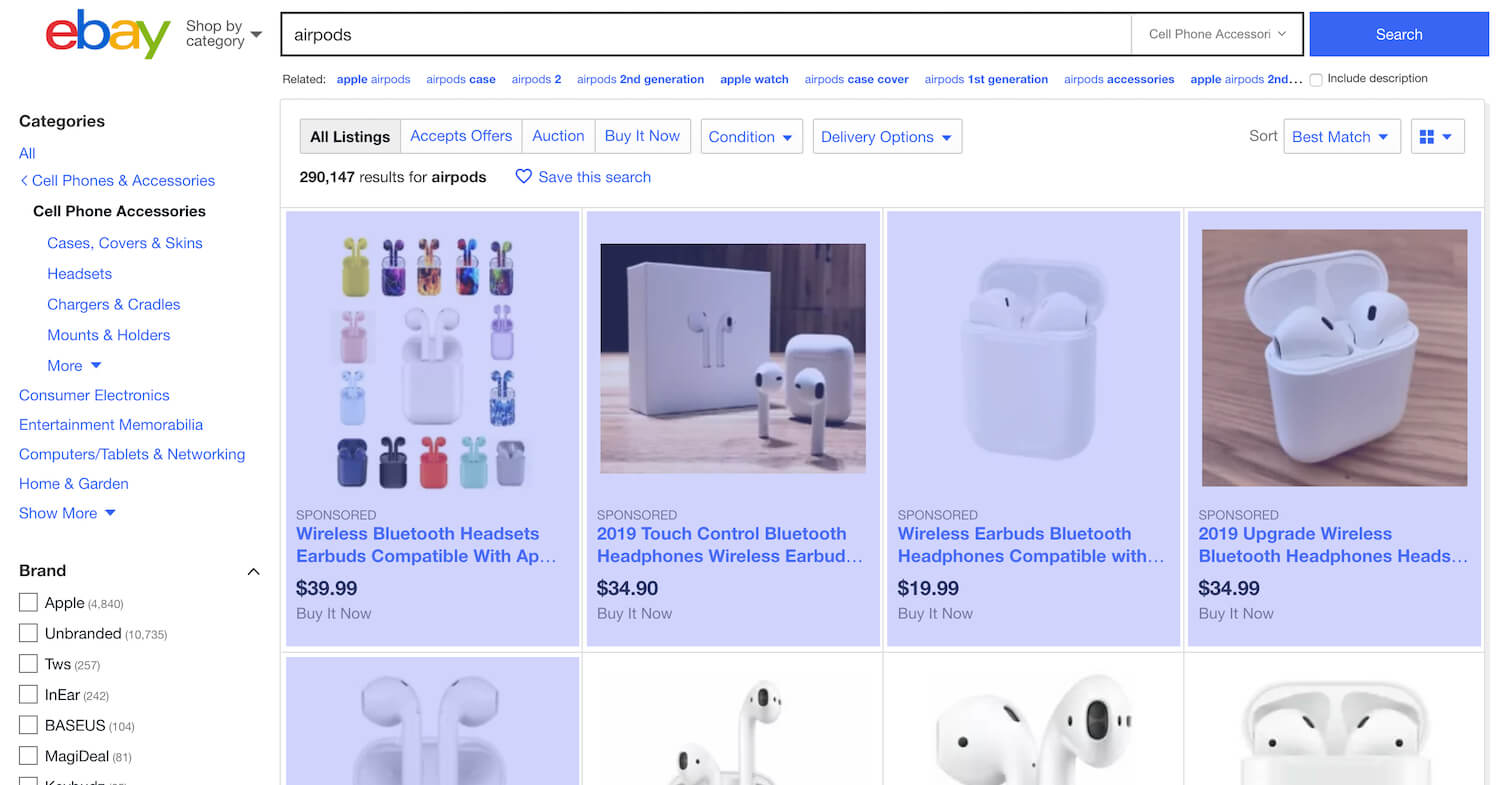 eBay Is Stuffing Its Search Results Pages With Ads