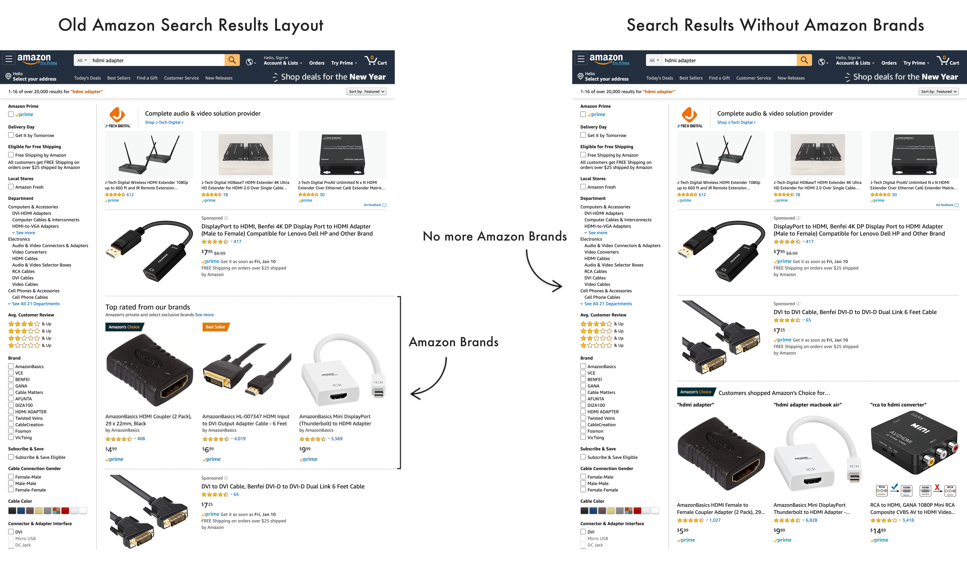 Amazon Stopped Featuring Its Own Brands in Search Results