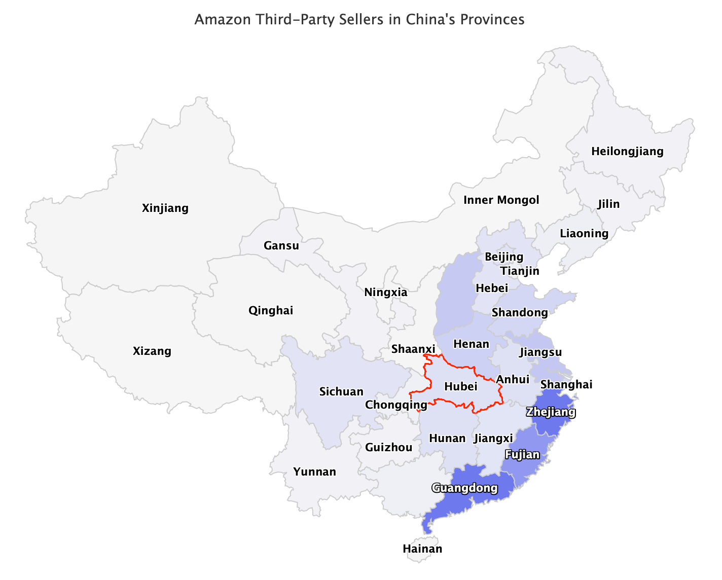 Amazon sellers in Hubei Province