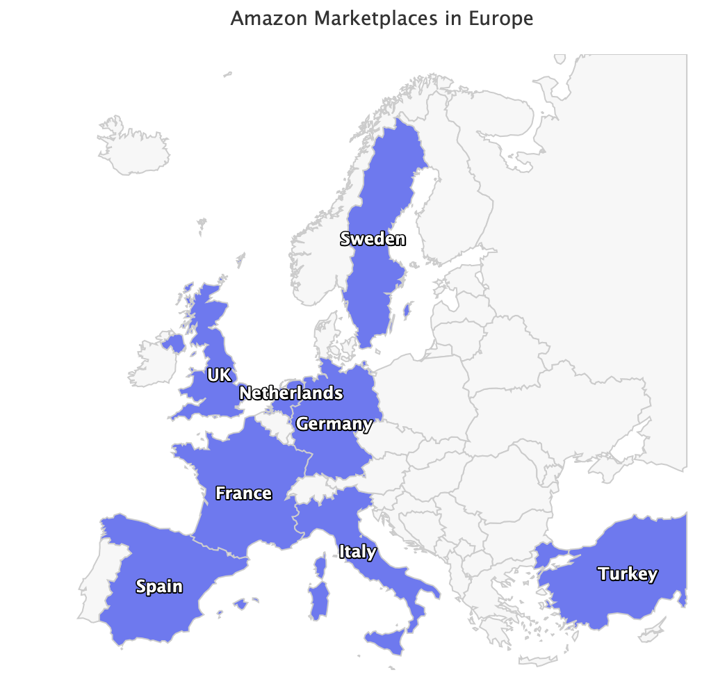 Amazon Marketplaces in Europe