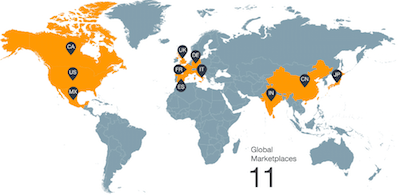 Amazon Marketplaces Map
