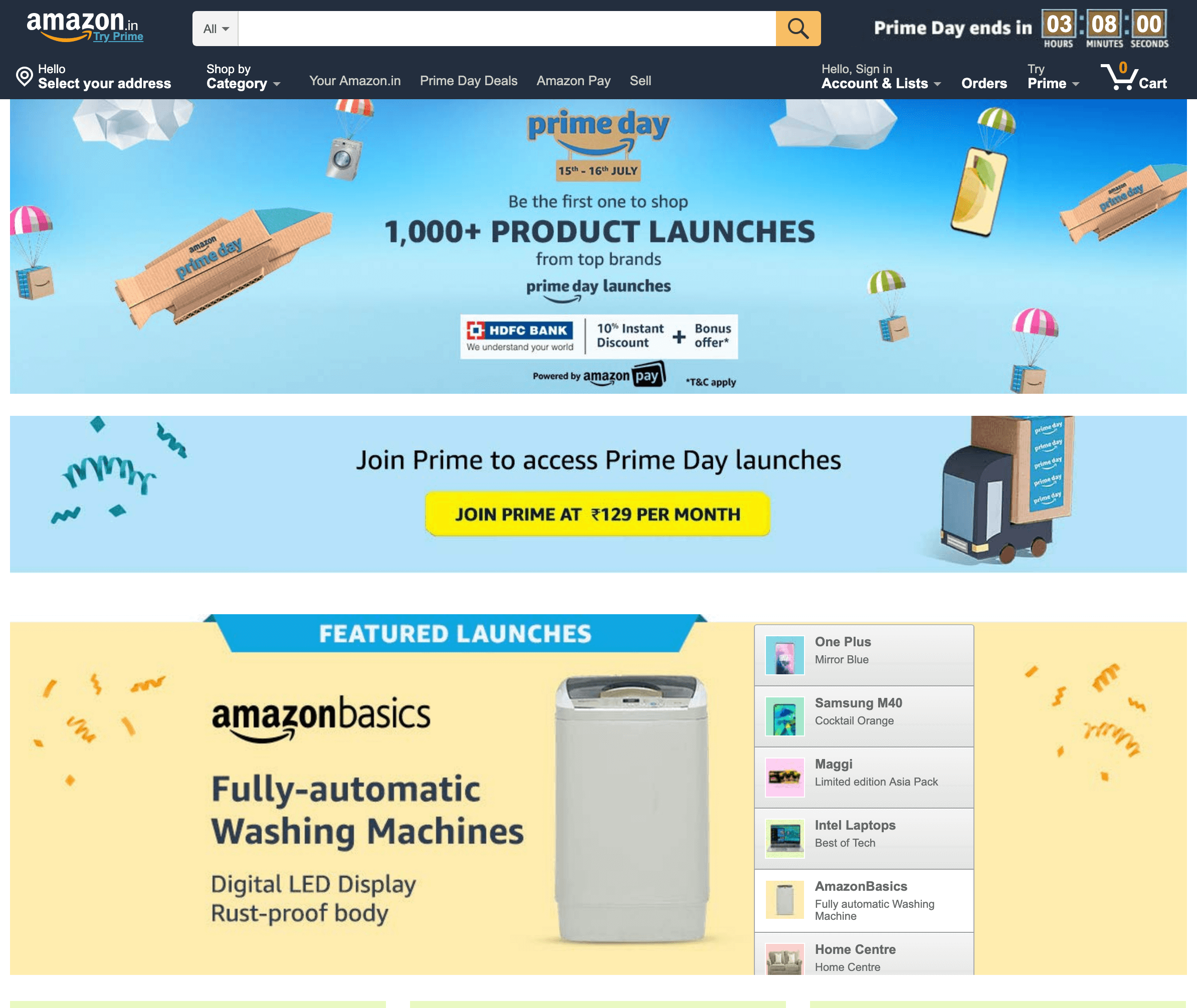 Amazon India launches