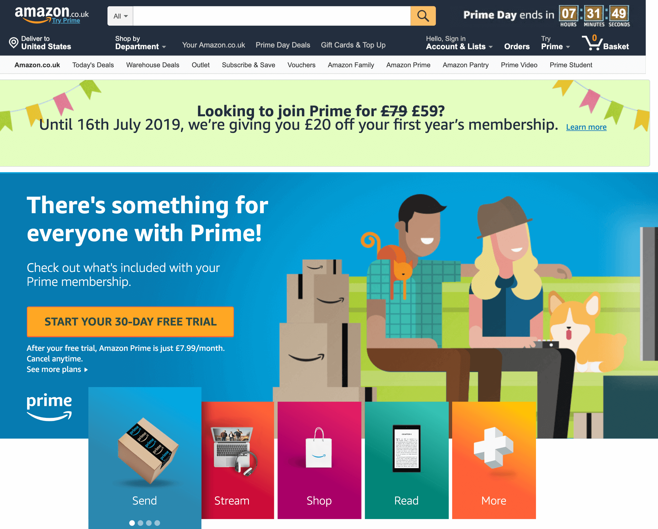Amazon UK Prime Membership