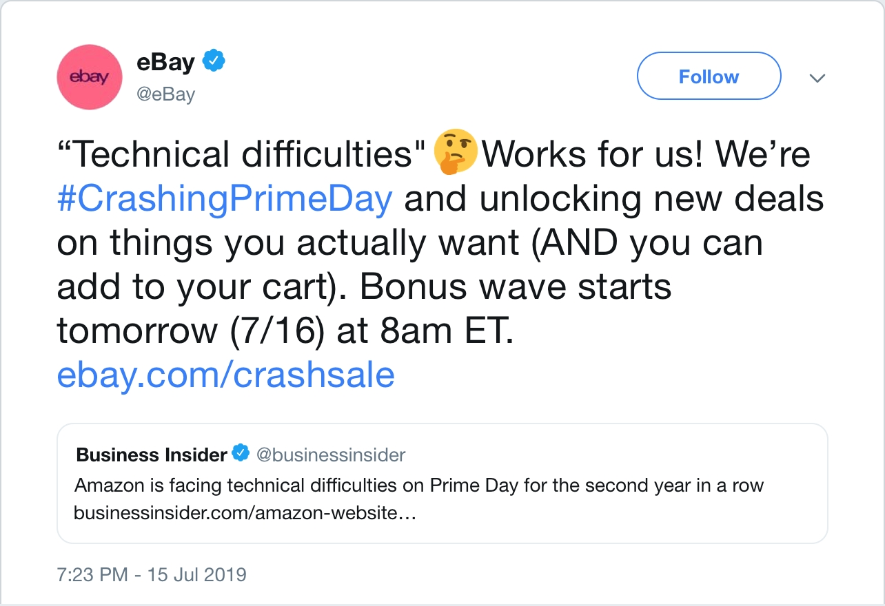 Amazon Prime Day crash