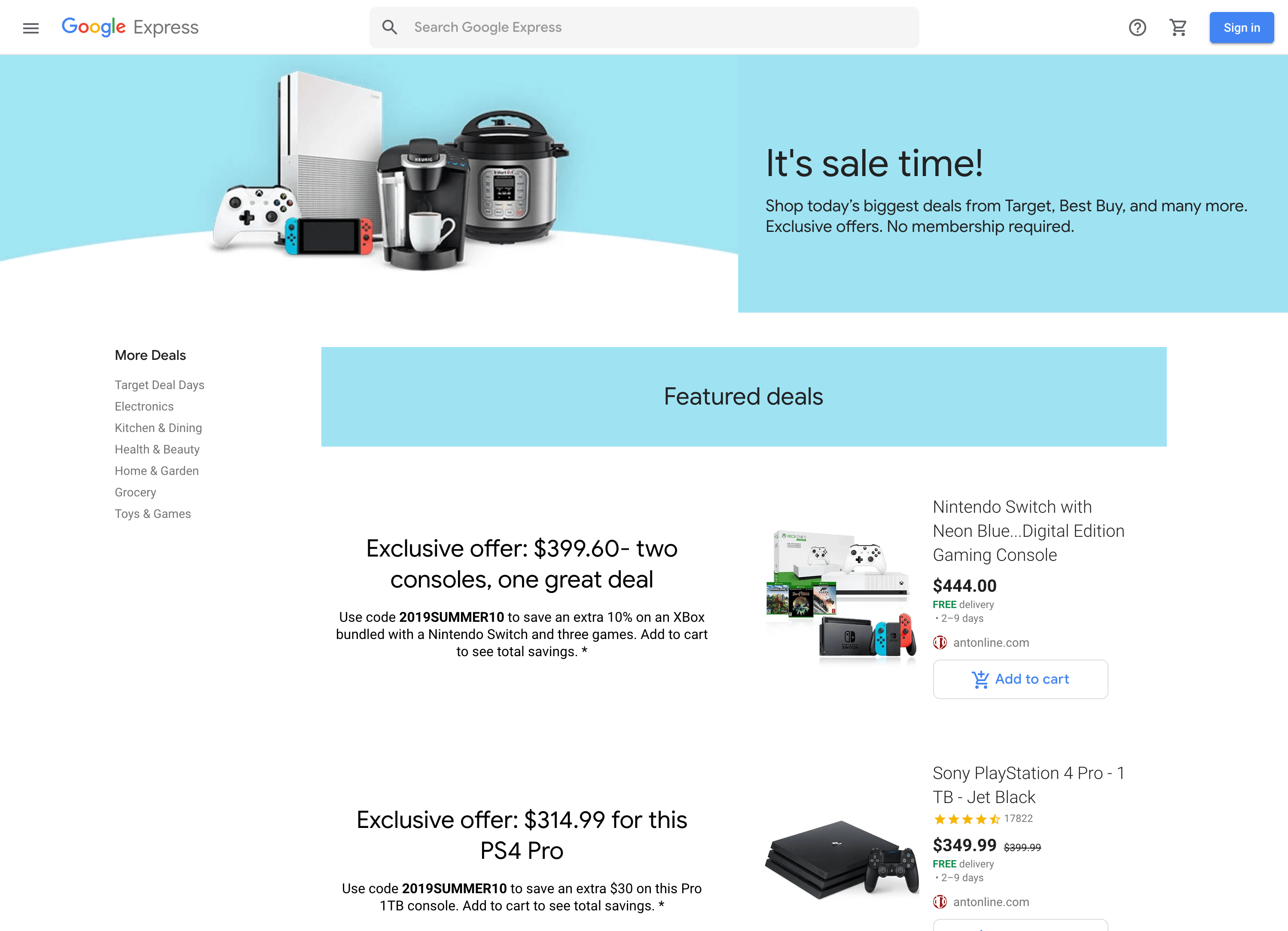 Google Shopping Prime Day