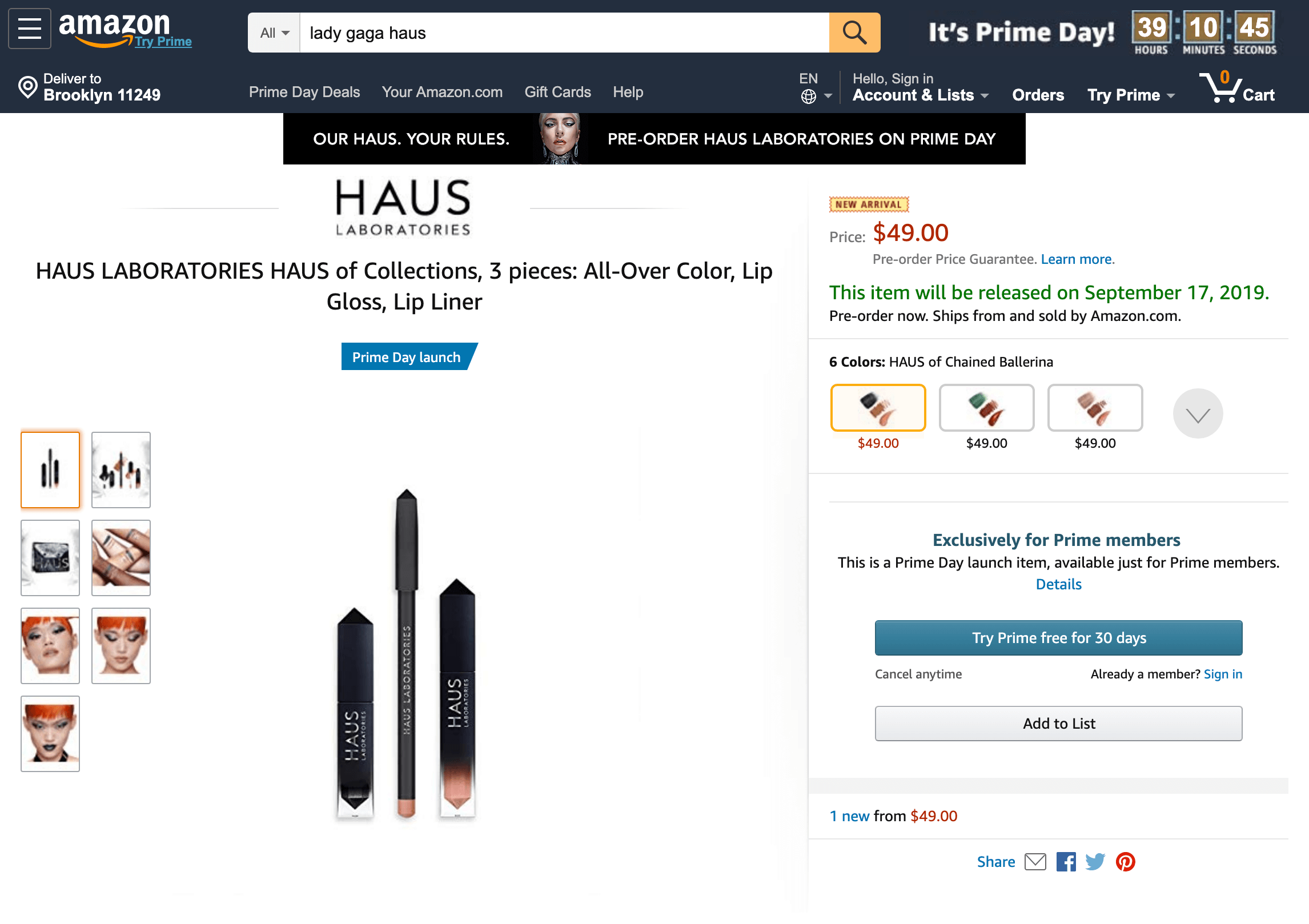Haus Laboratories launch on Prime Day