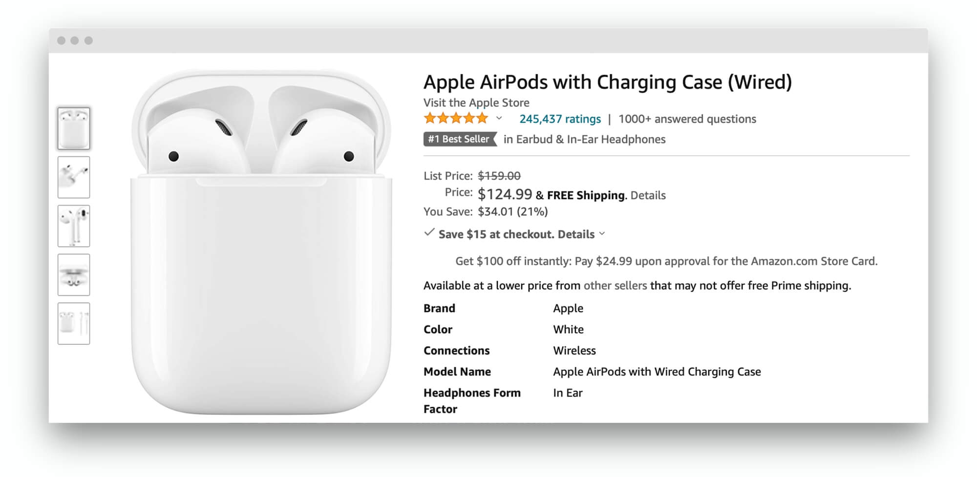 Apple AirPods have a 4.8 out of 5 rating based on 245,000 global ratings