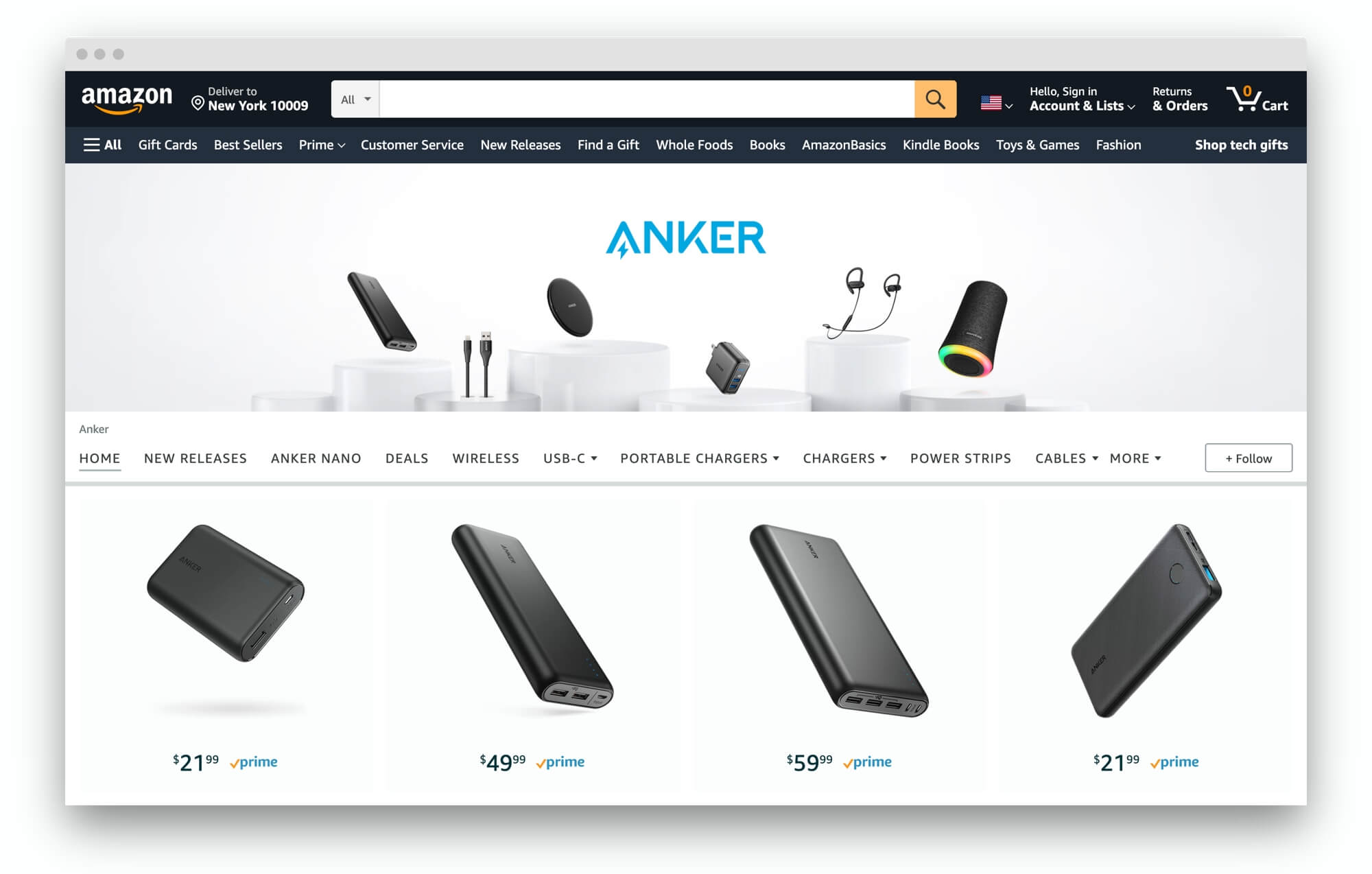Anker at Amazon