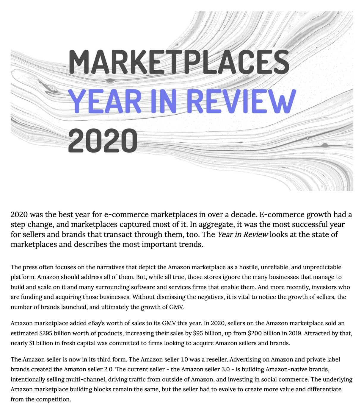 Marketplaces Year in Review 2019